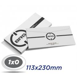 1000 Envelopes 11,3 x 23cm Sulfite 75g - 1x0 cor - Produção 2 dias