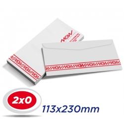 1000 Envelopes 11,3 x 23cm Sulfite 75g - 2x0 cor - Produção 2 dias