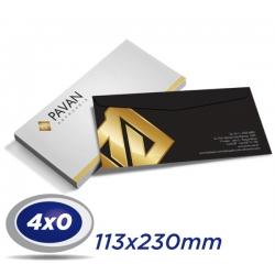 500 Envelopes 11,3 x 23cm Sulfite 90g - 4x0 cor - Produção 4 dias