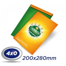 500 Envelopes 20 x 28cm Sulfite 90g - 4x0 cor - Produção 4 dias