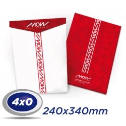 2000 Envelopes 24 x 34cm Sulfite 90g - 4x0 cor - Produção 4 dias