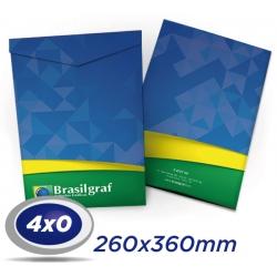 500 Envelopes 26 x 36cm Sulfite 90g - 4x0 cor - Produção 4 dias