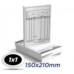 1.000 Fichas - 15 x 21cm Papel Off Set 240g - 1x1 cor - Produção 2 dias