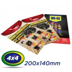 5000 Folhetos 20x14cm Couche 90g 4x4 cor - Produção 2 dias úteis