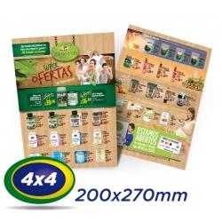 5000 Folhetos 20x27cm Couche 90g 4x4 cor - Produção 2 dias