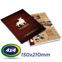 10.000 Folhetos 21x15cm Couche 120g 4x4 cor - Produção 2 dias úteis