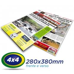 40.000 Tablóides 28x38cm  Papel JORNAL 49g 4x4 cor  - Produção 1 dia