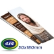 500 Marcadores 5x18cm Couche 250g 4x4 cor -Verniz UV Total Frente - Produção 2 dias