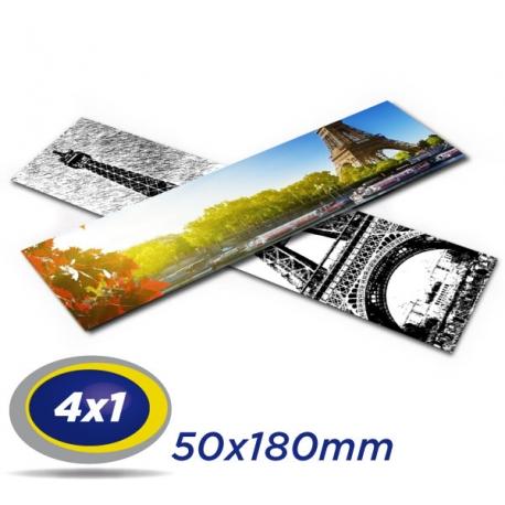 1000 Marcadores 5x18cm Couche 300g 4x1 cor -Laminação Fosca UV localizado - Produção 3 dias