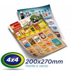 5.000 Panfletos 20x27cm Papel LWC 60g Cor 4x4 - Produção 2 dias