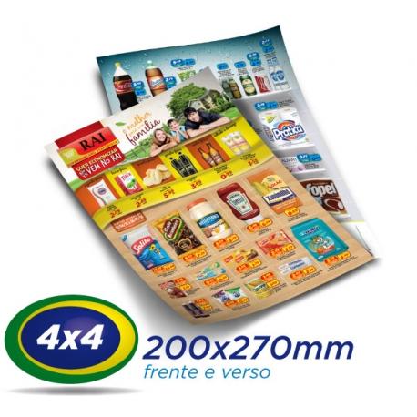 10.000 Panfletos 20x27cm Papel LWC 60g Cor 4x4 - Produção 1 dia