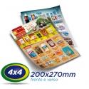 50.000 Panfletos 20x27cm Papel LWC 60g Cor 4x4 - Produção 1 dia