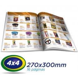 10.000 Tablóides 27x30cm 16 Pág. Papel LWC 60g 4x4 cor 1 Dobra - Produção 1 dia