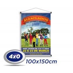 1 Banner 100x150cm Lona 340g 4x0 cor - Produção 2 dias