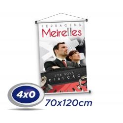 1 Banner 70x120cm Lona 340g 4x0 cor - Produção 2 dias