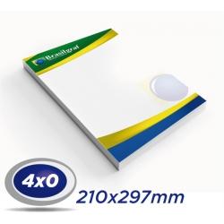 1000 Papel Timbrado 21x29,7cm Sulfite 90g 4x0 cor - Produção 5 dias
